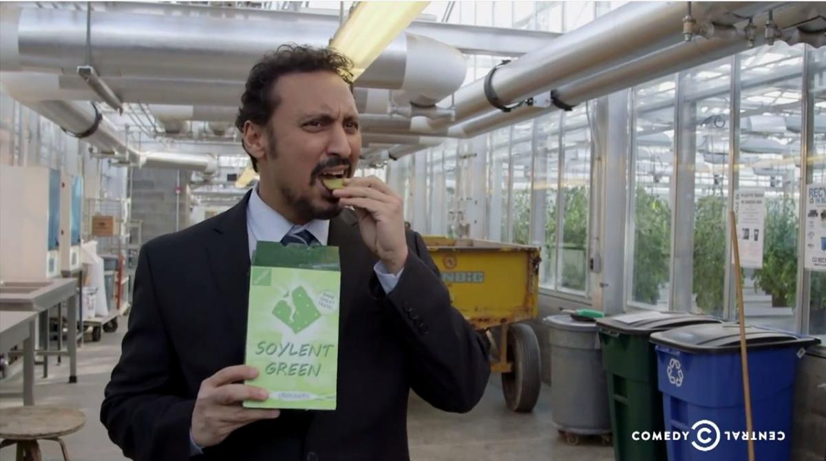 aasif-snacking-soylent-green-daily-show