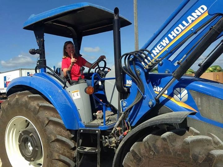 jennie-on-her-tractor