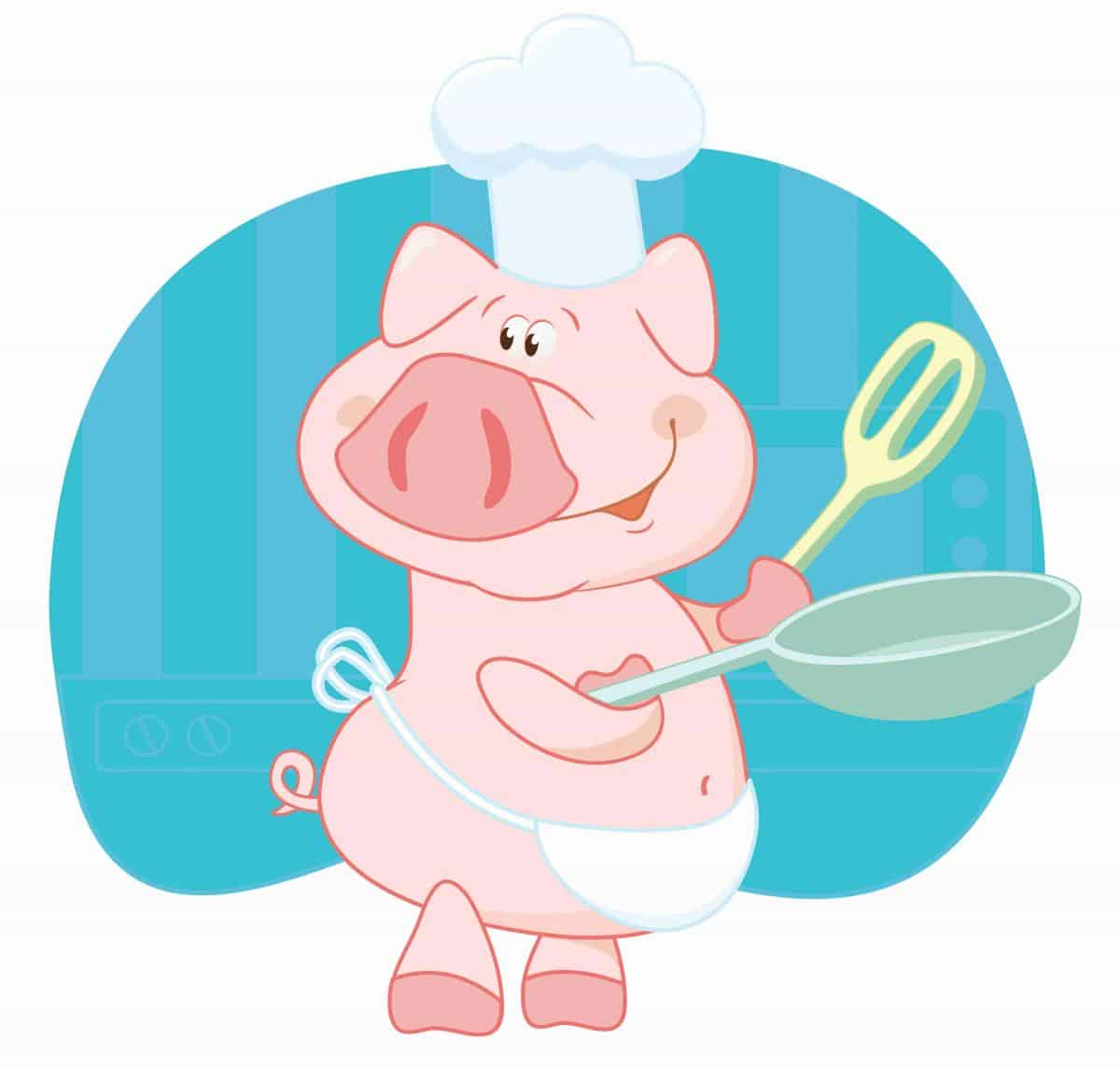 grilling-pig