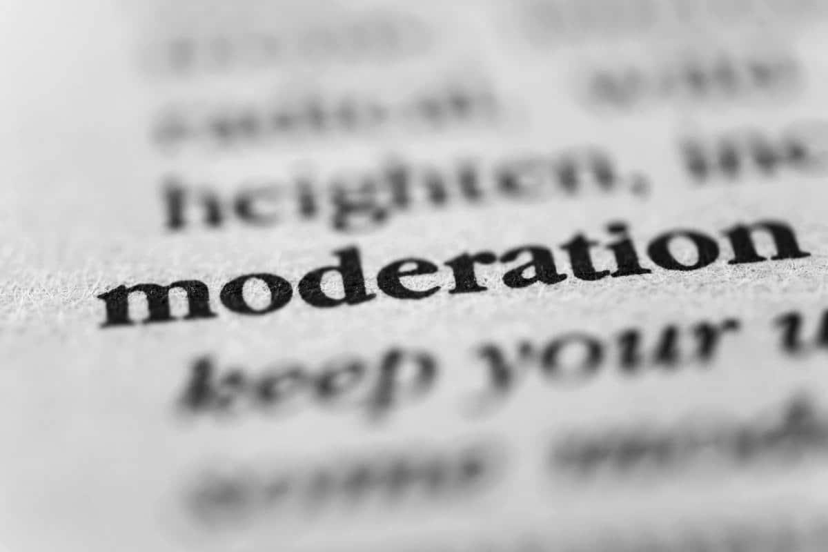 Moderation text