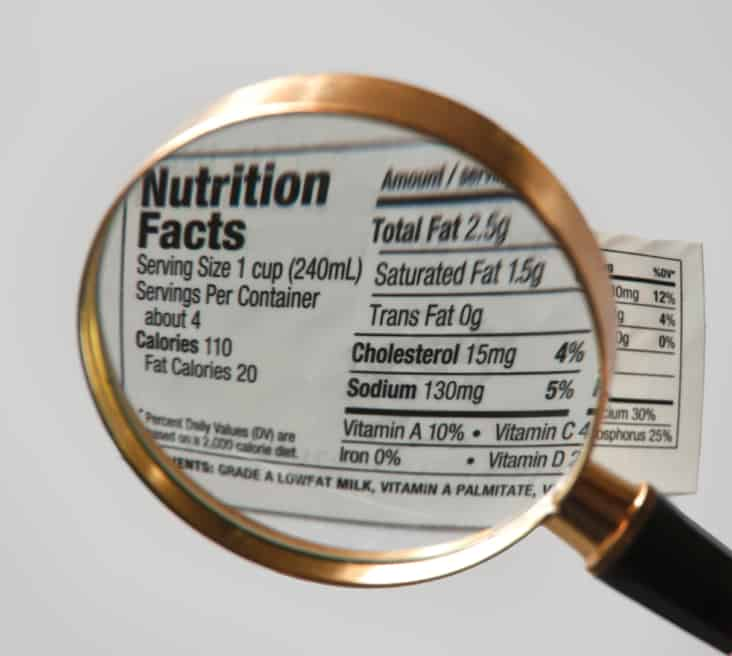 nutrition facts label sodium
