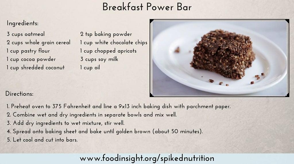breakfast power bar