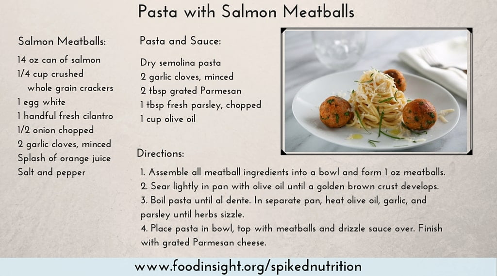 pasta with salmon meatballs