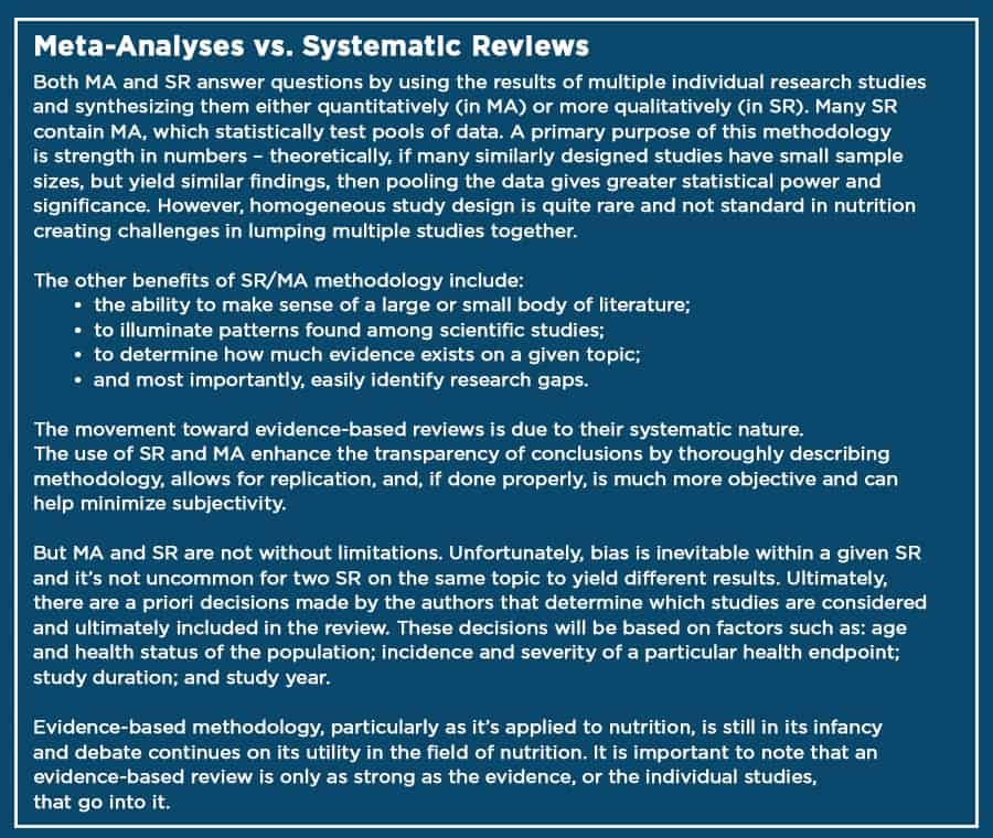 meta-analyses vs systematic review